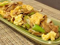 舞茸とふんわり玉子の炒め物